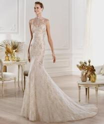 White And Gold Lace Wedding Dress Naf Dresses