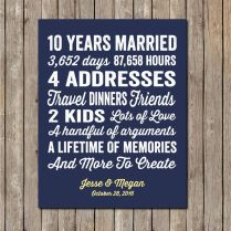 10 Year Wedding Anniversary Ideas For Her 25 Unique 11 Year