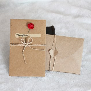 1pcs Sample Craft Paper Flower Wedding Invitations Card