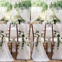 2018 2015 Ivory Chair Sash For Weddings With Big 3dchiffon