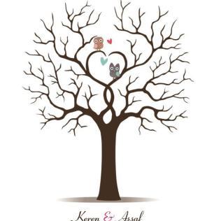 2018 Fingerprint Wedding Tree Thumbprint Wedding Guest Book Tree