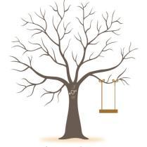 2018 Wedding Decorations Personalize Wedding Tree Fingerprint