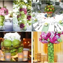 Apple Green And Purple Wedding Decorations