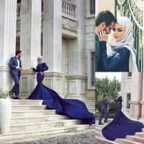 Arabic Designers Wedding Dress Dubai Abaya Kaftan Long Sleeve