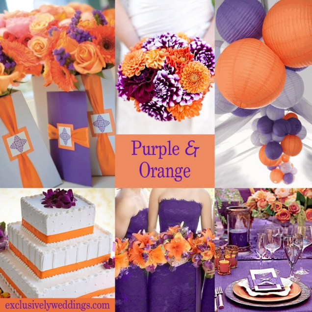 Awesome Purple And Orange Wedding Decorations 69 In Wedding Table