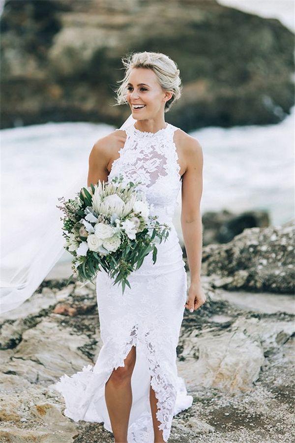 8f5cb01e62 Hawaiian Beach Wedding Dress