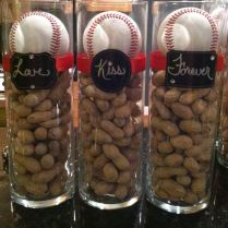 Baseball Themed Wedding Centerpieces…thoughts