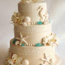Beach Theme Wedding Cakes Best 25 Beach Wedding Cakes Ideas On