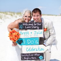Beach Wedding Signs Five Customized Directional Signs With