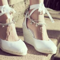 Beautiful Beach Wedding Wedge Shoes 11