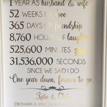 Beautiful First Wedding Anniversary Gift Ideas For Him B53 In