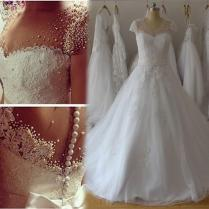 Beautiful Pearl Wedding Gowns Gallery
