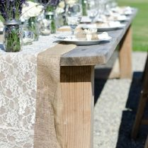 Burlap And Lavender Wedding