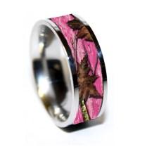 Camo Pink Wedding Rings