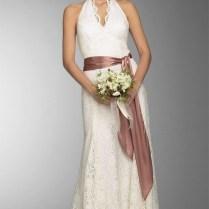 Casual Style Lace Wedding Dress With Belt – Fashdea