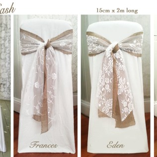Chair Covers Wedding, Jute Bow