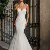 Charming Lace Sweetheart Fishtail Wedding Dress 58 With Additional