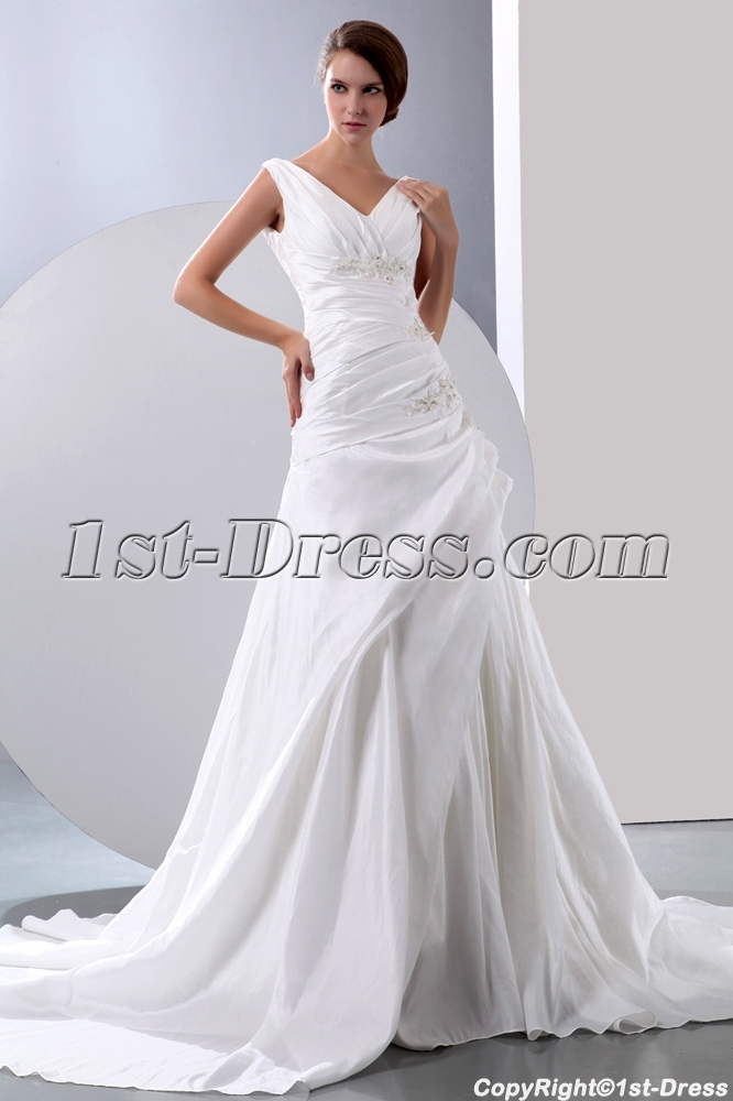 Ivory Wedding Gowns For Mature Brides