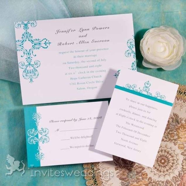 Classic Blue Christian Wedding Invitations Iwi235 Wedding