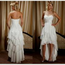 Country Style High Low Wedding Dresses Naf Dresses Country High
