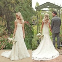 Country Wedding Dresses Mermaid Lace Country Wedding Dress