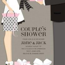 Couples Bridal Shower Invitations
