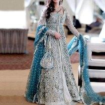 Designer Embroidered Chiffon Bridal Dress Price In Pakistan