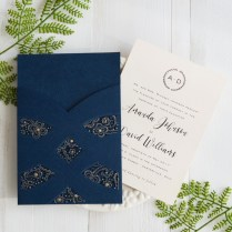 Elegant Blue Wedding Invitations Elegant Navy Blue Laser Cut