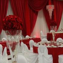 Elegant Wedding Decoration Red And White White Wedding Decorations
