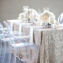 Elegant Wedding Tablecloths Ideas 50 Silver Winter Wedding Ideas