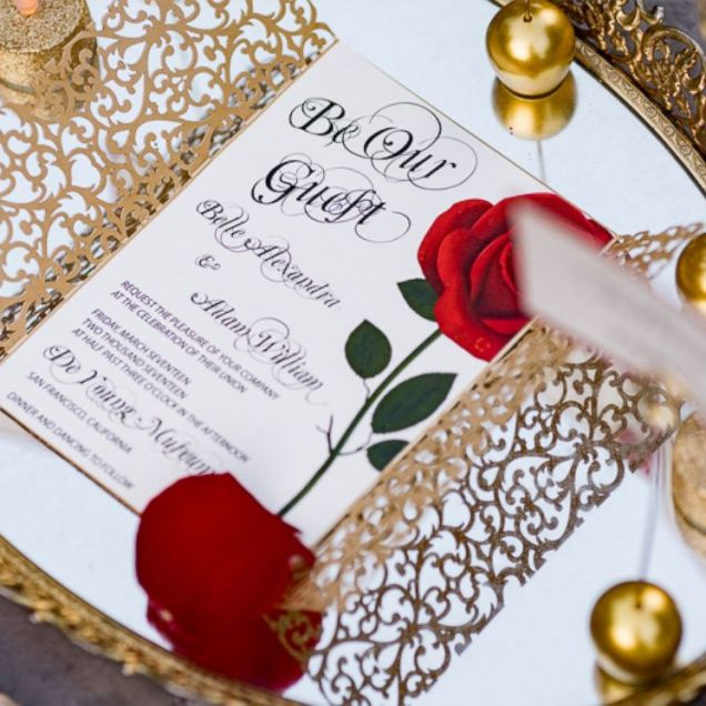 Enchanting 'beauty And The Beast' Wedding Shoot Will Inspire Belle