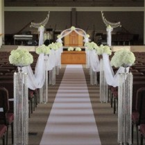 Flower Stands For Wedding Aisle Tall Crystal Chandelier Stand