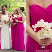 Fuchsia Colored Wedding Dress