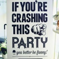 Funny Wedding Welcome Signs