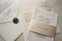 Gold Elegant Wedding Invitations — C Bertha Fashion Diy Elegant