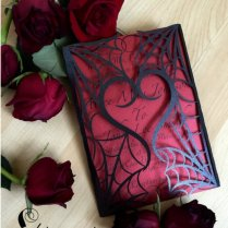 Gothic Spider Web Halloween Wedding Invitations
