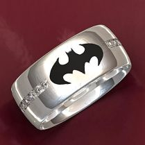 Hand Crafted Dark Knight Batman Wedding Ring By Valeria Fine