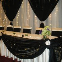 Head Tables With Style We Offer Head Table And Backdrop Decor In