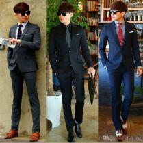 Hot Sale Men's Formal Suit New Bridegroom Wedding Fashion Slim