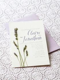 Lavender Diy Wedding Invitations
