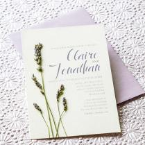Lavender Diy Wedding Invitations