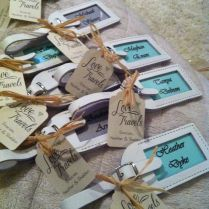 Leather Luggage Tags Wedding Favors
