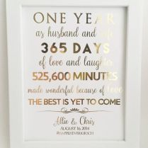 Lovely First Wedding Anniversary Gift For Husband B60 In Images