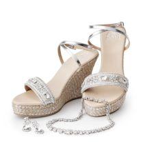Luxury Beach Wedding Wedge Shoes 4