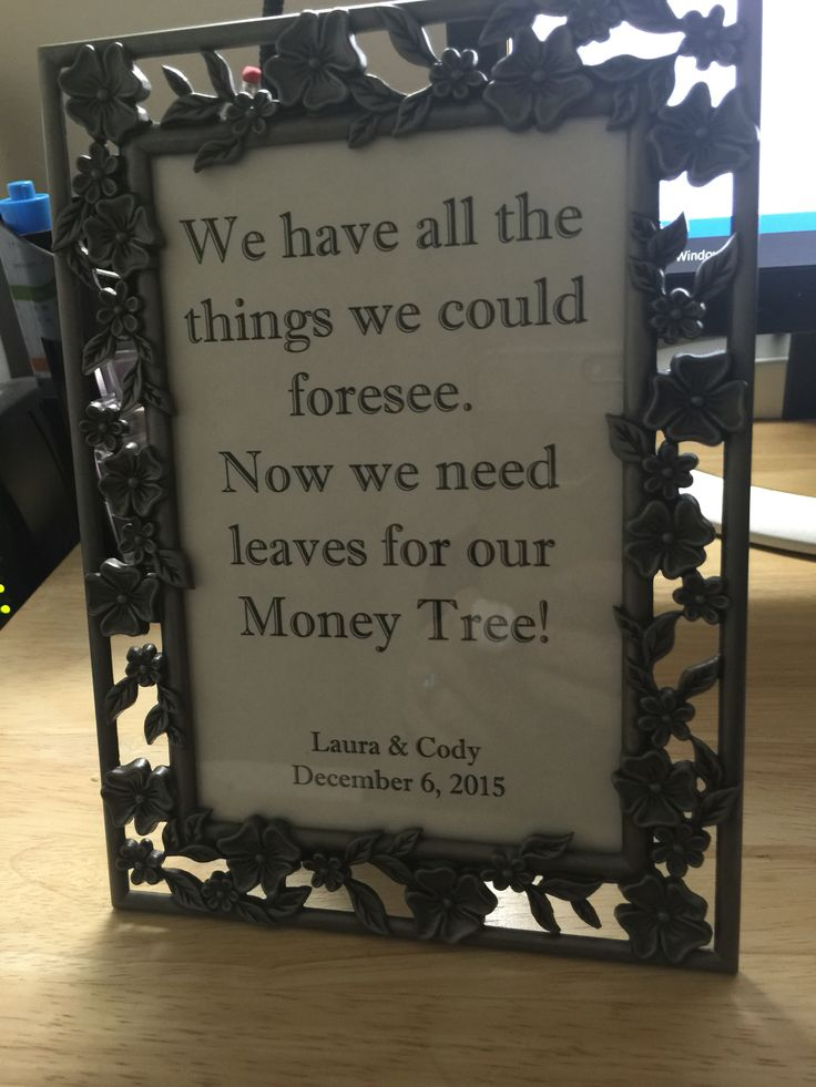 Wedding Money Tree