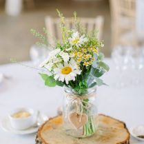 Natural & Rustic Daisy Filled Wedding