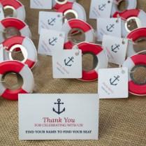Nautical Wedding Favor Lifesaver Bottle Opener – Beach Front