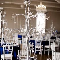Navy Blue And White Wedding Decorations