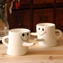 New Hugs Love Mugs Couple New Novelty Lover Mug Set Of 2 Tea
