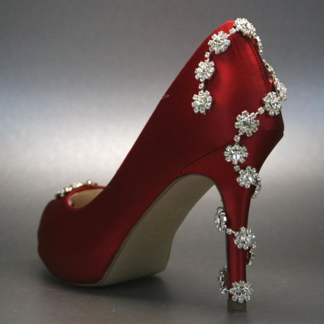 Nice Red Wedding Shoes 0
